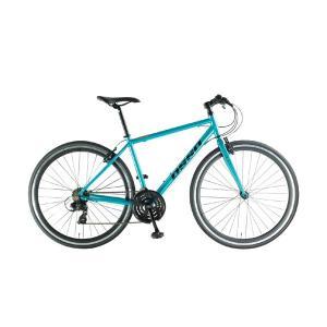 クロスバイク 700C 自転車 スタンドなし シマノ21段変速 ライト カギ付 OSSO オッソ V330-AL|belkisno1