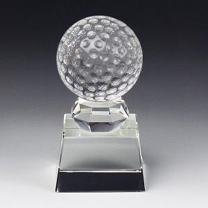 ボール型クリスタルトロフィーSB-1-GF-B(ゴルフ中) bella-robe