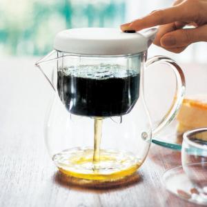 ガラスポット ポット フィルター付き 耐熱ガラス 紅茶 ハーブティー 中国茶 ステンレスフィルター ...
