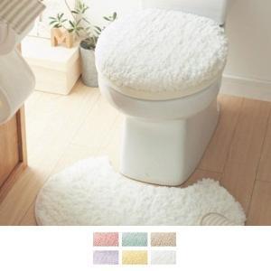 トイレマットセット 洗える トイレマット フタカバー セット 2点セット おしゃれ 安い シンプル 白色 ふわふわ 新生活 標準 円形 四角 温水洗浄(新) ホワイト|bellemaison