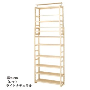 ●高さ182〜247cm ●耐荷重量/棚板:10kg ●主材/天然木(ポプラ材(ラッカー塗装) ●固...