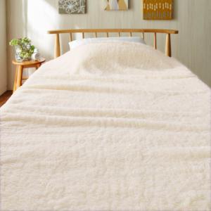 毛布 ベルメゾンデイズ モコモコ毛布 アイボリー ダブル|bellemaison