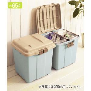 最大4分別できる屋外用ゴミ箱<65L>