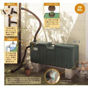ガーデニング用品 雨水タンク 80リットル|bellemaison