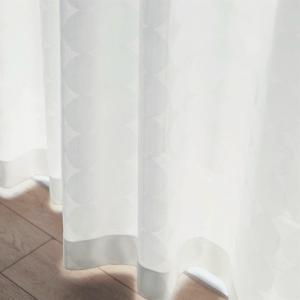 サークル柄のUVカット・遮熱・遮像・防炎レースカーテン 「約200×176(1枚)、約100×176(2枚)」の写真