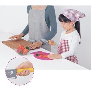お子様に優しい安全設計のキッズ包丁 カラー 「イエロー」