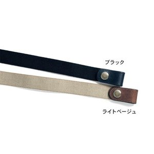 Gevaert/ゲバルト日本製本革使い2WAYシンプルゴムベルト