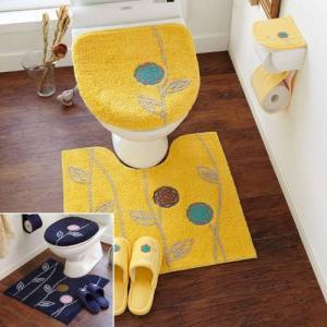 北欧調デザインのトイレマット&フタカバー(単品・セット) 「標準/温水洗浄便座」の写真