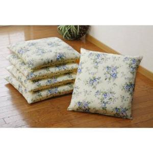 花柄の座布団カバー・5枚セット<イングリッシュガーデン>の写真