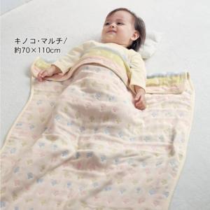 値下げ ベビー寝具 綿100%のふわふわ6重ガーゼケット[日本製] 「約50×70〜約100×140」