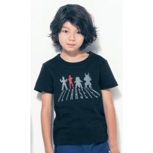 ウルトラマン 限定コラボ商品親子でお揃い子供用半袖Tシャツネ...