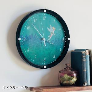 時計 おしゃれ 壁掛け 置き ディズニー 蓄光掛け時計 ティンカー ベル アンティークローズ