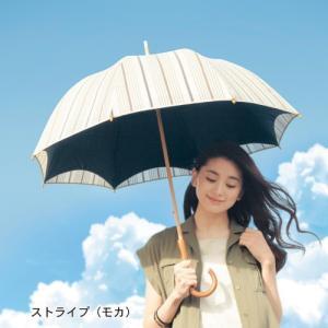 夏の超最強 晴雨兼用二重張りUV木棒日傘(ロング)...