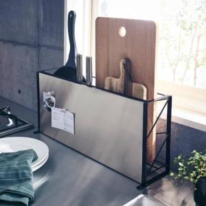 マグネットが貼れるスリムフライパンまな板包丁スタンド|bellemaison