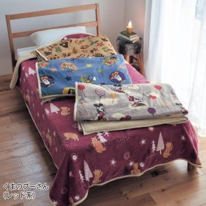毛布 ディズニー 大きめサイズのマイクロファイバー毛布【一部先行販売】 「くまのプーさん(レッド系)」|bellemaison