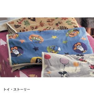 毛布 ディズニー 大きめサイズのマイクロファイバー毛布【一部先行販売】 「トイ・ストーリー」|bellemaison