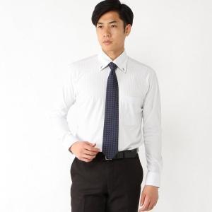 メンズ ノーアイロン速乾長袖ボタンダウンシャツ【S〜3L】 「ライトグレー」 bellemaison