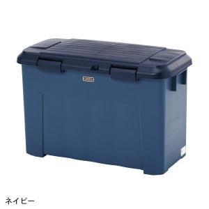 ゴミ箱 ベランダ 屋外 分別ゴミ箱 大容量ベランダ2分別ペール カラー ネイビー|bellemaison