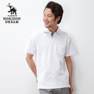 メンズ ピンタック格子柄ポロシャツ M、L|bellemaison