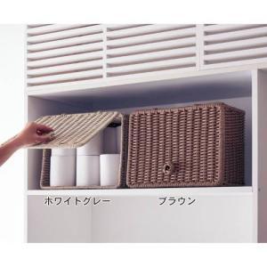 ラタン風洗えるサニタリー収納ボックスの写真