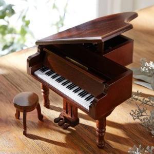 アンティーク木製グランドピアノ型オルゴール