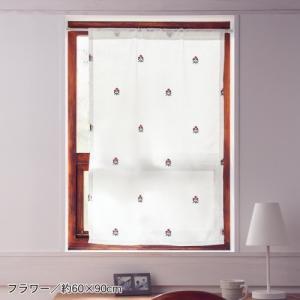 サイズが豊富なUVカットボイル小窓カーテン 「約60×90(1枚)、約100×50(1枚)」の写真