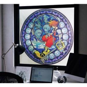 ディズニー ステンドグラス風窓飾りシート/キングダム ハーツ...