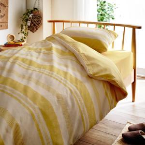 布団カバー 布団カバーセット 綿混素材の布団カバー3点セット 「イエロー」(洋式シングル・和式シングル)の写真