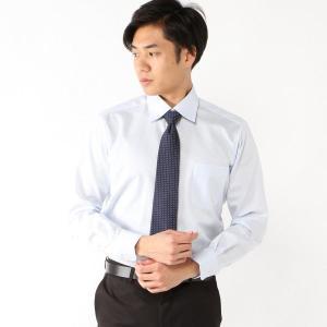 メンズ 制菌・抗菌・防臭・形態安定加工ドレスシャツ 【S〜5L】 「サックス」 bellemaison