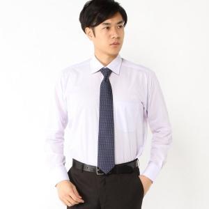 メンズ 形態安定・セミワイドカラ―ビジネスシャツ【S〜3L】 「ラベンダー(ストライプ)」 bellemaison