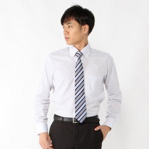 メンズ 形態安定・ボタンダウンビジネスシャツ【S〜3L】 「グレー(ストライプ)」|bellemaison