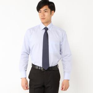 メンズ 形態安定・ボタンダウンビジネスシャツ【S〜3L】 「ブルー(ストライプ)」|bellemaison
