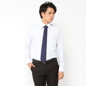 メンズ ノーアイロン・消臭・防汚ボタンダウンビジネスシャツ【S〜4L】 「サックス」 bellemaison