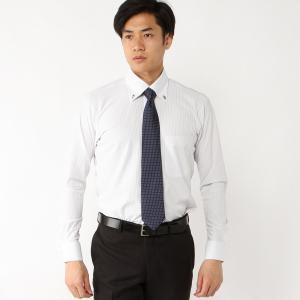 メンズ ノーアイロン・消臭・防汚ボタンダウンビジネスシャツ【S〜4L】 「グレー」 bellemaison
