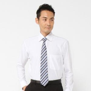 メンズ ノーアイロン・消臭・防汚セミワイドカラ―ビジネスシャツ【S〜4L】 「ホワイト」|bellemaison