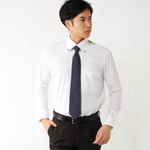 メンズ ノーアイロン・消臭・防汚ボタンダウンビジネスシャツ【S〜4L】 「ホワイト」 bellemaison