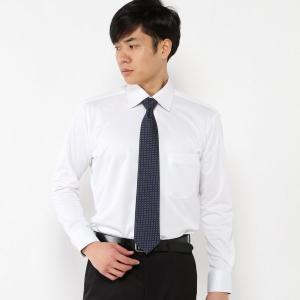 メンズ 冬でも吸湿速乾・ノーアイロンセミワイドビジネスシャツ【S〜5L】 「ホワイト」 bellemaison