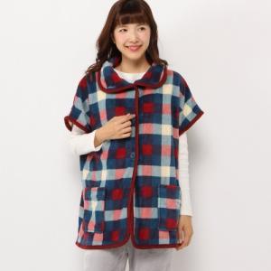 ページワン/PAGE ONE チェック柄ショート丈 着る毛布...