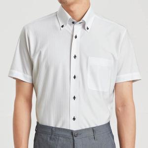 ノーアイロン速乾ビジネスボタンダウンシャツ 「オフホワイトドビー」|bellemaison