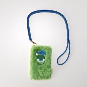 携帯 スマートフォン関連用品 ディズニー ショルダータイプのふわふわスマートフォンケース カラー 「マイク」 bellemaison