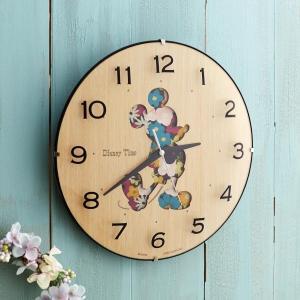 ディズニー 木目調壁掛け時計