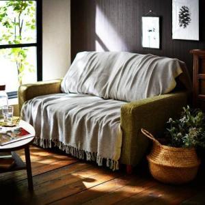 インド綿の手織りマルチカバー...
