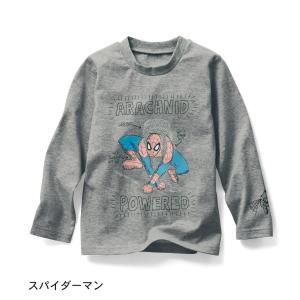 子供服 おしゃれ Tシャツ  マーベル 長袖Tシャツ スパイダーマン|bellemaison