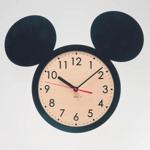 時計 おしゃれ 壁掛け 置き ディズニー 掛け時計 カラー 「ブラック」