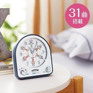 時計 おしゃれ 壁掛け 置き ディズニー 目覚まし時計/ミッキーマウス90周年デザイン