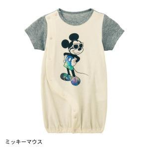3fd363c697f52 ベビー服 カバーオール ロンパース ディズニー 背中メッシュ半袖ツーウェイオール おしゃれ ベビー服  「ミッキーマウス」