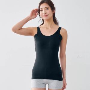 タンクトップ インナー 汗取り レディース 夏用 カップ付き ひんやり 脇パッド付き 綿100% 吸汗 速乾 消臭 さらさら 敏感肌 S M L LL 3L|bellemaison