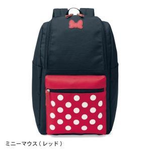 279be4388764 バッグ カバン 鞄 レディース リュック ディズニー 口がガバっと開くリュックサック カラー 「ミニーマウス(レッド)」