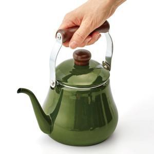 コーヒードリップもできるホーローケトル 1.5L カラー 「グリーン」
