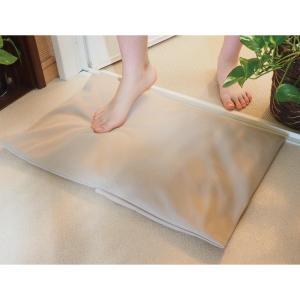 珪藻土バスクッション バスマット 吸水 消臭 抗菌 珪藻土 洗えるカバー ふかふか 軽量 日本製 風...